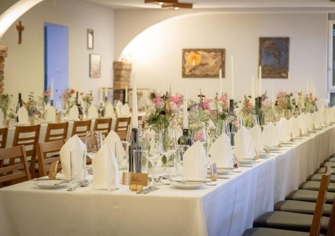 Tischdekoration Hochzeitsfeier