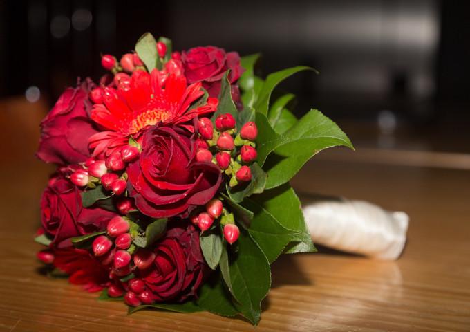 Brautstraus rote Rosen