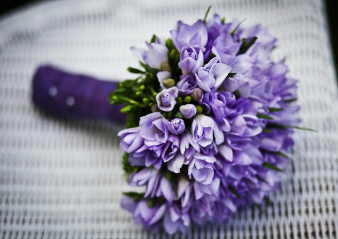 Brautstrauss lila violett